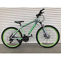 """Велосипед горный TopRider-424 29"""" алюминиевый салатовый, фото 1"""
