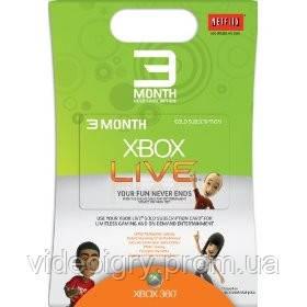 Пополнение счета Xbox 360 Xbox Live Gold 3 месяца подписка USA/EU/RU - Видеоигры-игровые приставки в Харькове