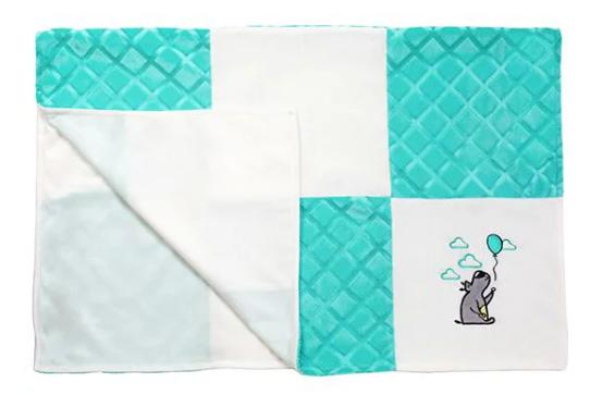 """Мягкое одеяло """"Minky patchwork"""" Babyono 75*100 см"""