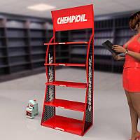 Стеллаж металлический CHEMPIOIL. Торговое оборудование от BENDVIS