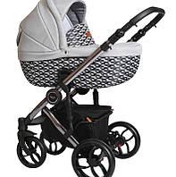 Детская универсальная коляска 2 в 1 Baby Merc Bebello limited edition 145 Baby Merc Польша серый B/145