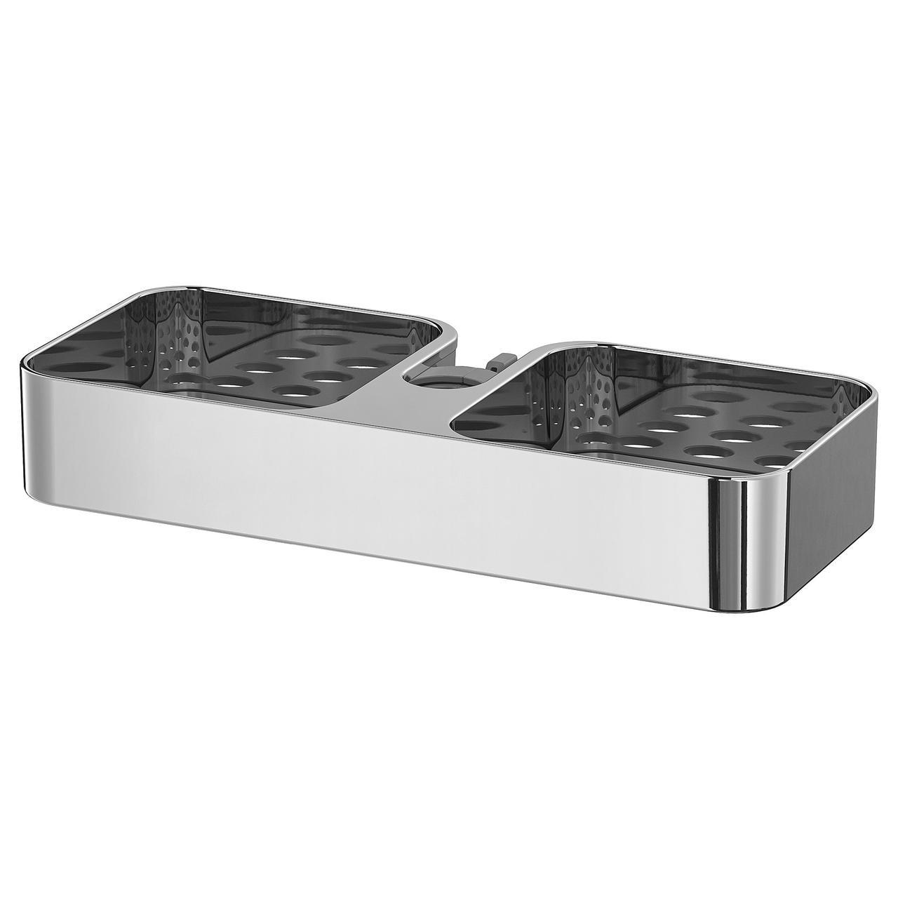 Полка для душа IKEA BROGRUND 25x4 см хром 903.285.26