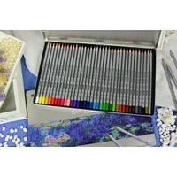 Цветные карандаши  36 цветов  MARCO super writer №7100 -36ТN металлическая упаковка. Художественные карандаши