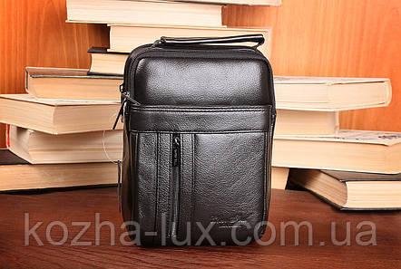Мужская небольшая сумка, натуральная кожа, фото 2