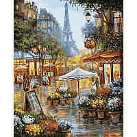 """Картина по номерам, картина-раскраска """"Весенние цветы Парижа"""" 40Х50см VP941"""