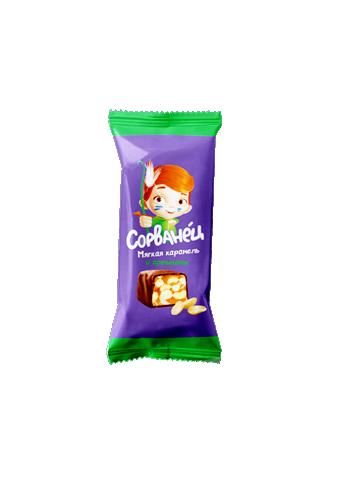 "Конфета в молочном корпусе ""Сорванец-мягкая карамель с орешками"" ТМ Коммунарка"