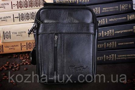 Мужская сумка из натуральной кожи модель B-6808, Италия , фото 2
