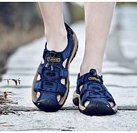 Классические мужские мягкие сандалии (в наличии синие, размер 45/46 - на стельку ок 29,5-30 см), фото 1