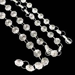 Акриловые гирлянды кристаллы на кольцах