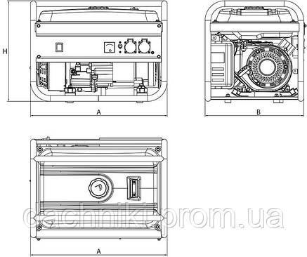 """Электрогенератор бензиновый """"ARUNA""""  GH2800, фото 2"""
