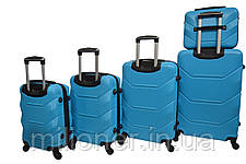 Чемодан Bonro 2019 набор 5 штук голубой, фото 2