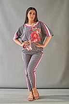 """Летний брючный женский костюм """"LARA"""" с блузой (большие размеры), фото 3"""