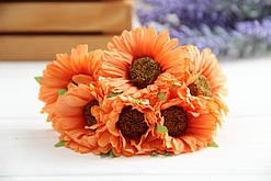 Дикий мак ( гербера )  ,     оранжевый                 36 шт