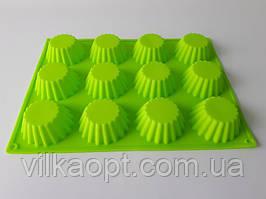 Форма силиконовая на планшете Кекс из 12-ти 35*26,5*3,2cm