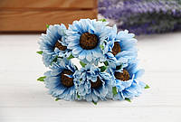 Дикий мак ( гербера )  ,  голубой                    36 шт , фото 1