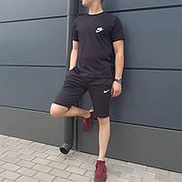 3338516f6a23 Крутой мужской спортивный костюм на лето Nike полностью черный (реплика)