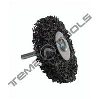 Зачистной круг Clean and Strip на дрель Ø 50x10 черный со встроенным шпинделем