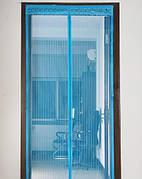 Штора-сетка москитная на двери (крепление гвозди) на магнитах 100х210см