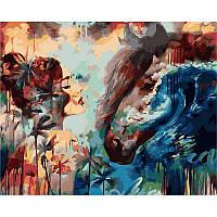 """Картина по номерам, картина-раскраска """"Отдаленные приливы""""  40Х50см VP978"""