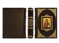 Книга элитная серия подарочная BST 860263 133х175х27мм Спасительные иконы в кожанном переплете