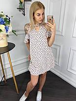 Платье  рюши принт в расцветках  902027, фото 2