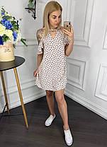 Платье  рюши принт в расцветках  902027, фото 3