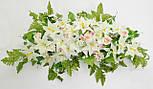 Ладья роза с лилией  с росой 130 см 4 расцветоки, фото 5