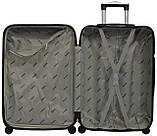 Набор пластиковых дорожных чемоданов на колесах Bonro 5 штук изумрудный, фото 5