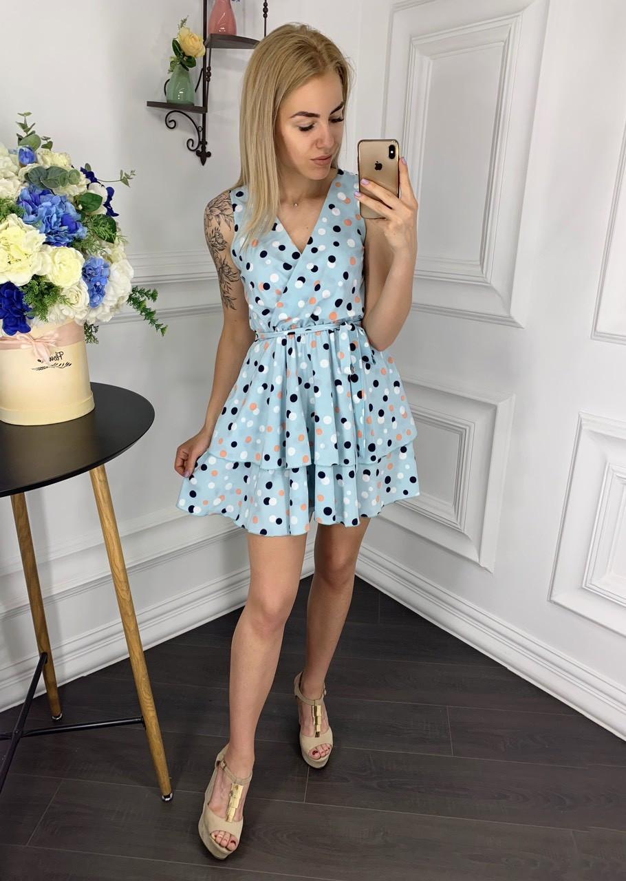 Платье  принт в расцветках  907004Б