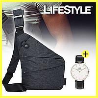 Мужская сумка мессенджер Cross Body + часы Daniel Wellington в Подарок