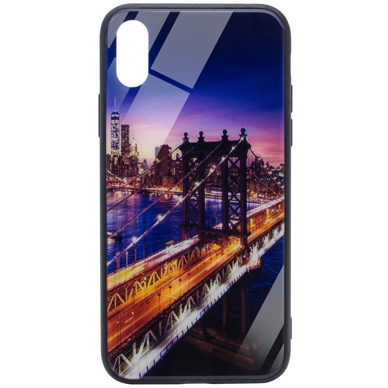 "TPU+Glass чехол Night series для Apple iPhone XR (6.1"") Мост"