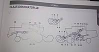 Ремни на Claas Dominator 48