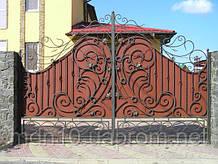 Ворота кованые распашные (MD-VKR-005)