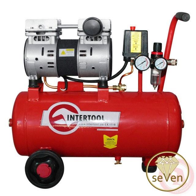 Компрессор 24 л 2 цилиндра INTERTOOL PT-0022