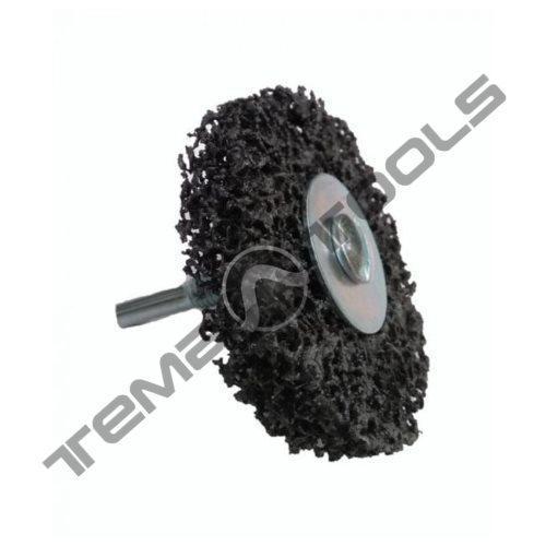 Зачистной круг Clean and Strip на дрель Ø 75x25 черный со встроенным шпинделем