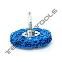 Зачистной круг Clean and Strip на дрель Ø 75x10 синий со встроенным шпинделем