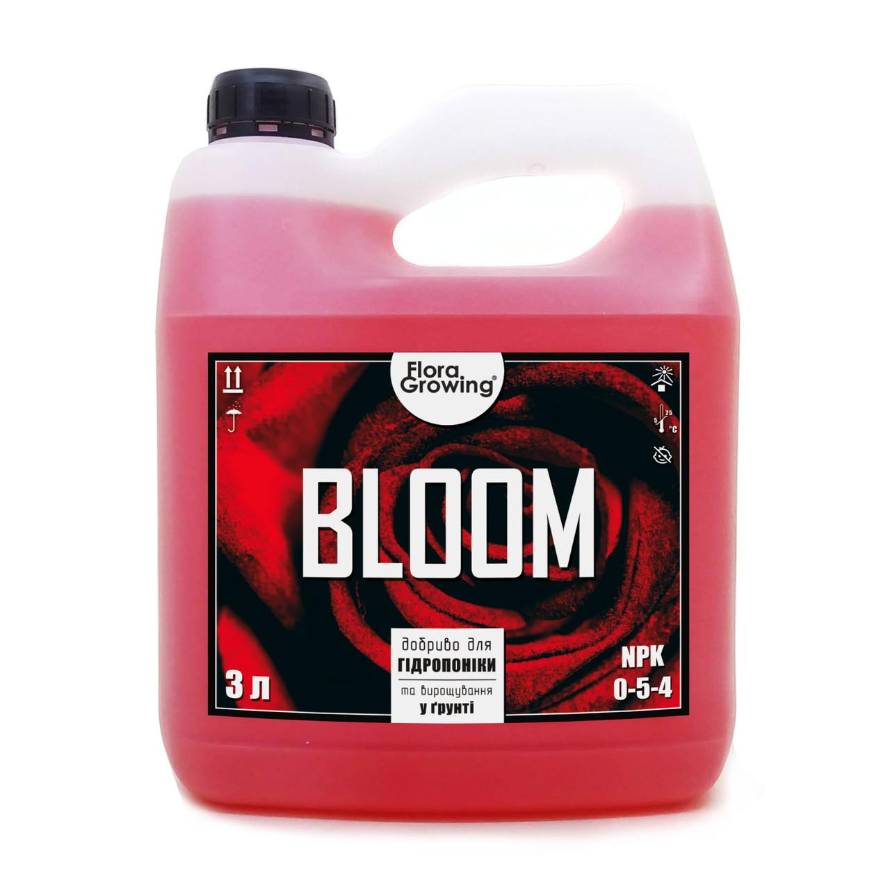 3 л Bloom - компонент удобрений для гидропоники и почвы аналог GHE