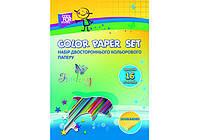 """Набор двухсторонней цветной бумаги """"CFS"""" А4, 16 л., 16 цветов, 80 г/м2"""