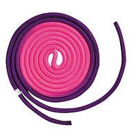 Скакалка Chacott ORIGINAL COMBINATION COLOR ROPE (NYLON) 3м Цвет: 777.Purple&Pink