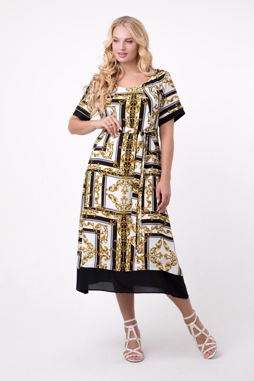 Платье большого размера Жемчуг (52-60), красивое