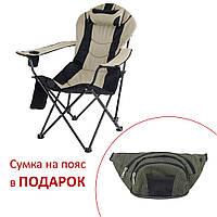 """Кресло """"Директор"""" d19 мм черный-беж"""