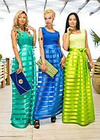 """Длинное летнее платье """"T.J. SOON MAXI"""" с юбкой из органзы (4 цвета)"""