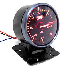 Разрежение во впускном коллекторе (эконометр) стрелочный Ket Gauge 6606 черный в корпусе Ø60мм прибор датчик