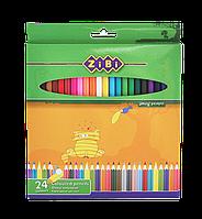 Карандаши цветные STANDARD ZiBi 24цв