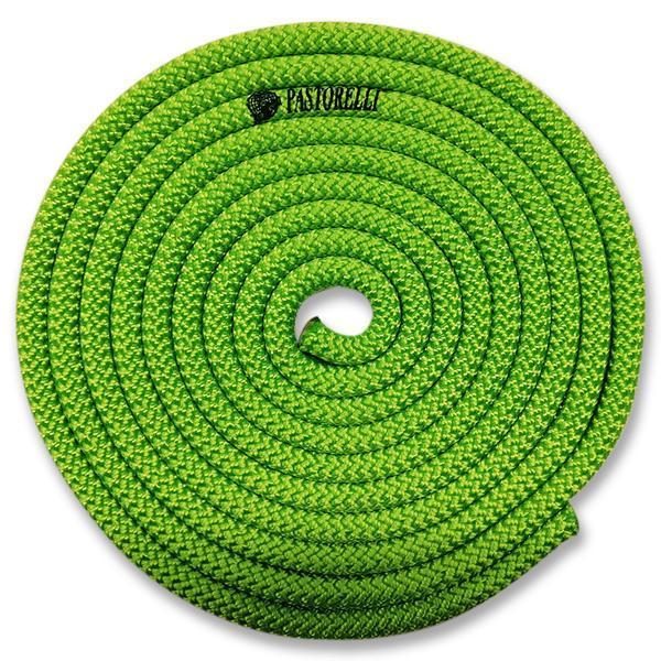 Скакалка гимнастическая PASTORELLI NEW ORLEANS / F.I.G. Approved / 3м / Цвет: Fluo Green