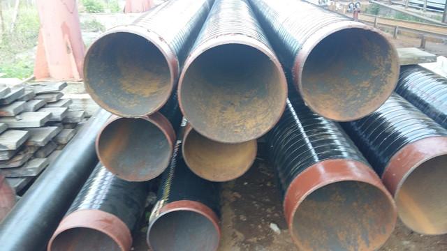Труби дм. 377х9мм. ГОСТ 8732 ізольовані двошаровим покриттям на основі екструдованого поліетилену