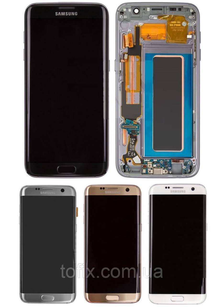 Дисплей для Samsung G935 Galaxy S7 EDGE, модуль в зборі (екран і сенсор), з рамкою, OLED