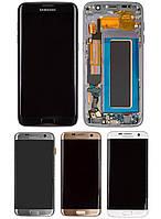 Дисплей для Samsung G935 Galaxy S7 EDGE, модуль в зборі (екран і сенсор), з рамкою, OLED, фото 1