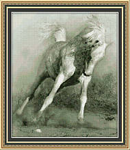 Белый конь 0111 Набор для вышивки крестом фирма Юнона