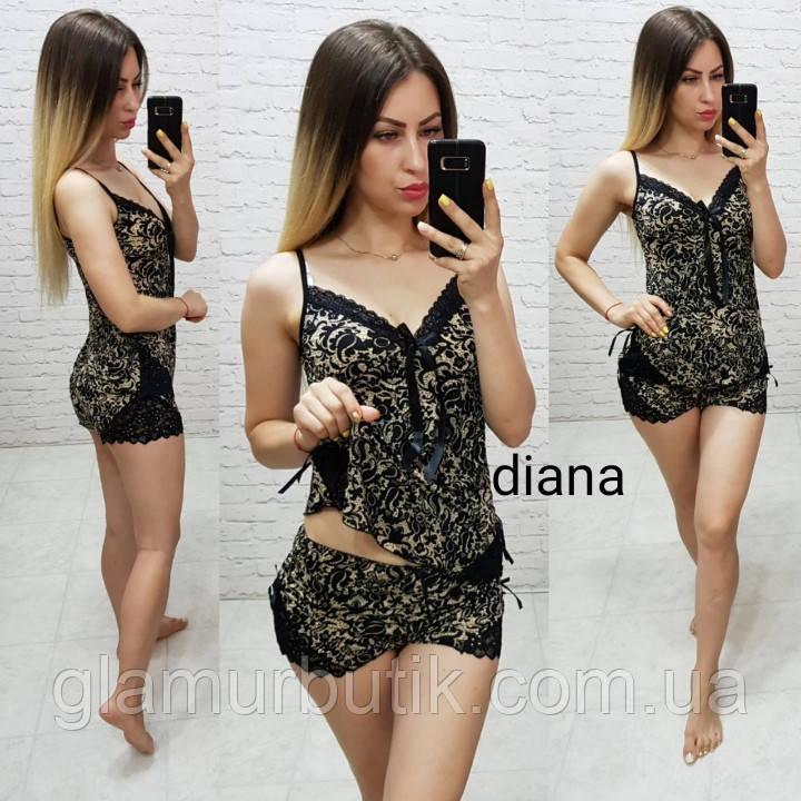 49ce34265a44 Красивая женская пижама спальный комплект нижнее белье шорты маечка с  кружевом ...